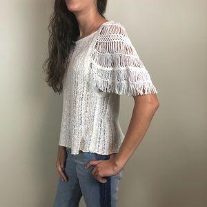 Free People Blackbird Crochet Blouse